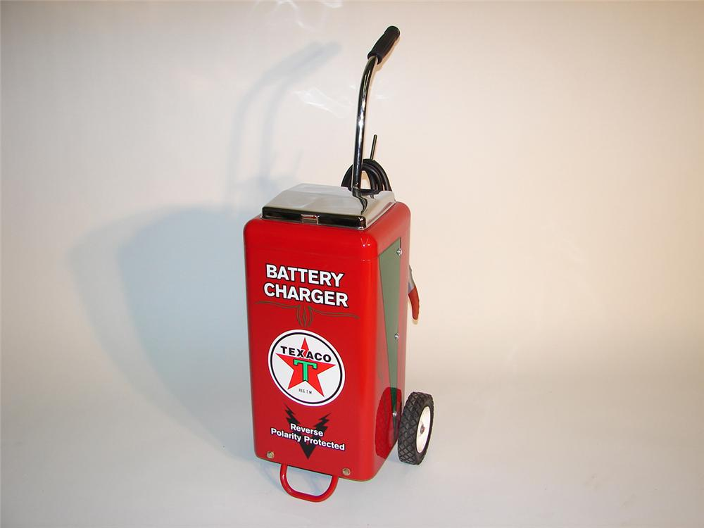 Fabulous 1950s Texaco service station battery charger on wheels. - Front 3/4 - 64988