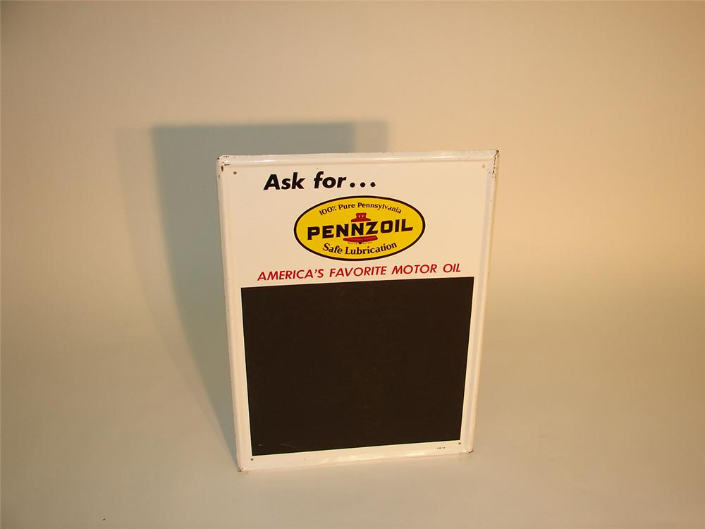 Pennzoil service department metal price board. - Front 3/4 - 65155