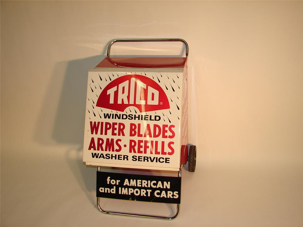 1960s Trico Wiper Blades service station display cabinet on wheels. - Front 3/4 - 65418