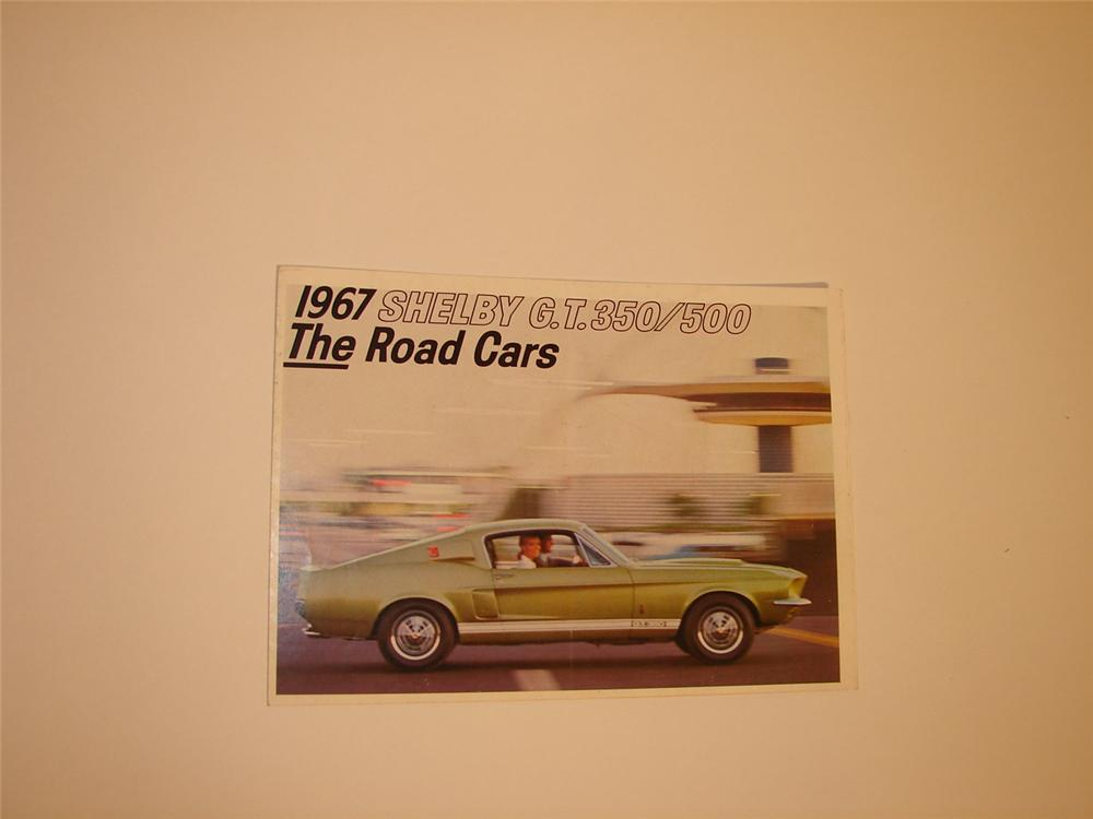 Pristine N.O.S. 1967 Shelby G.T. 350/500 colored sales brochure. - Front 3/4 - 66392