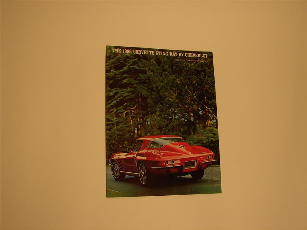 Killer N.O.S. 1966 Corvette Sting Ray over-sized sales brochure. - Front 3/4 - 66430