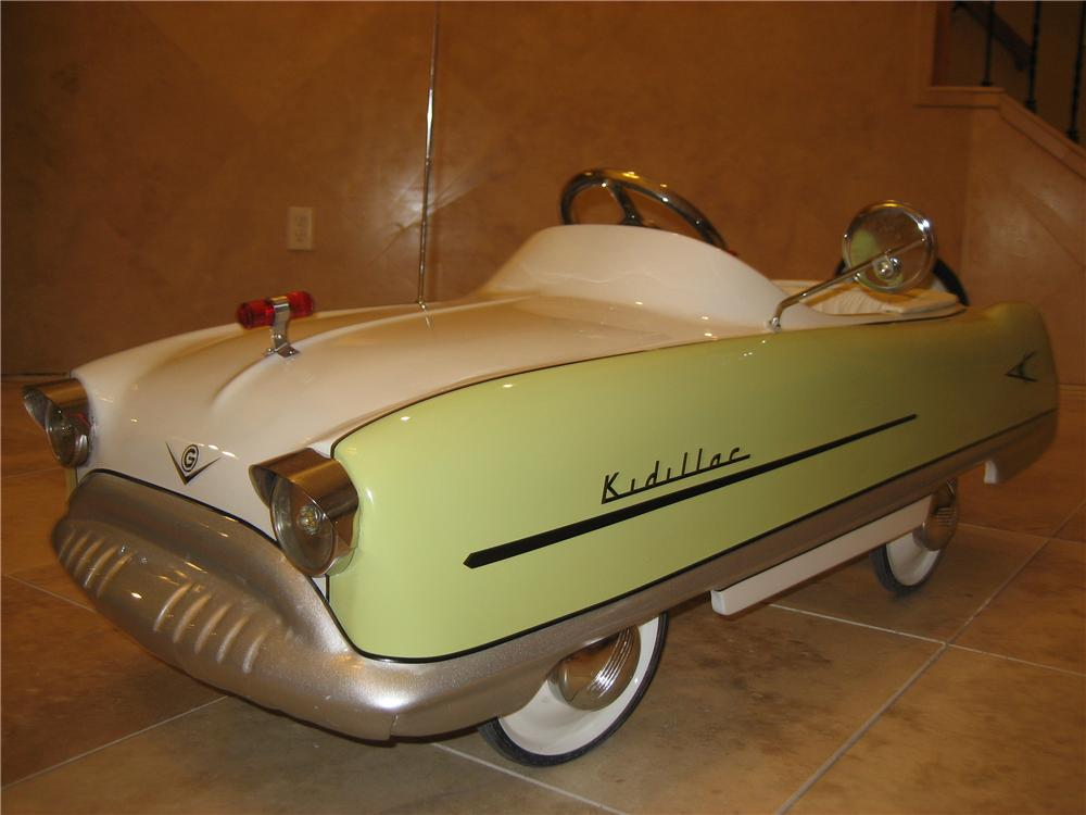"Adorable 1950s Garton Kidillac ""Cadillac"" pedal car professionally restored to Concours quality. - Front 3/4 - 66537"
