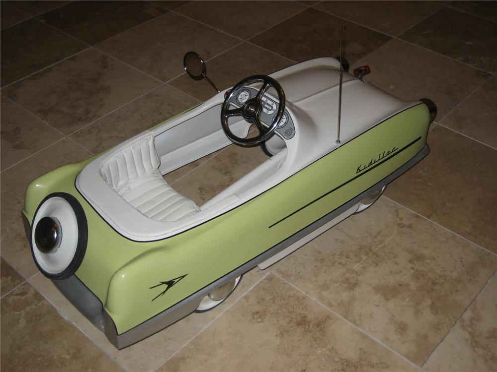 "Adorable 1950s Garton Kidillac ""Cadillac"" pedal car professionally restored to Concours quality. - Rear 3/4 - 66537"
