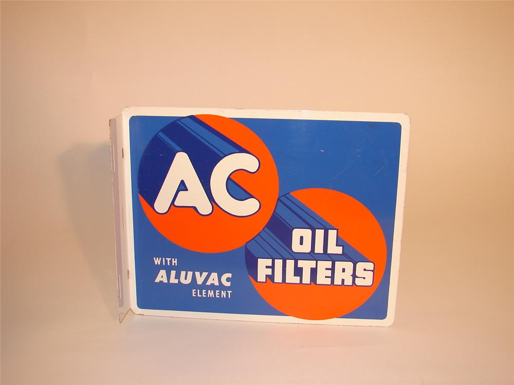 N.O.S. 1950 AC Oil Filters single-sided tin garage flange. - Front 3/4 - 66558