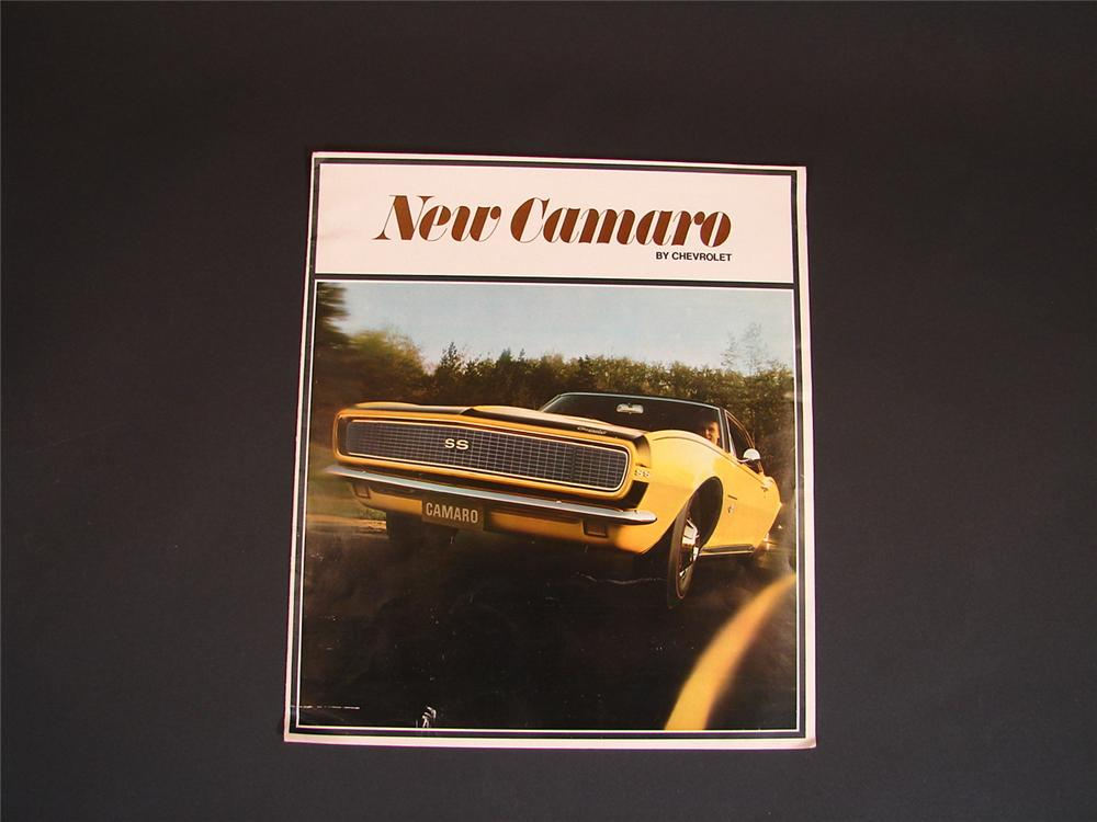 N.O.S. 1968 Camaro SS over-sized sales brochure. - Front 3/4 - 66816