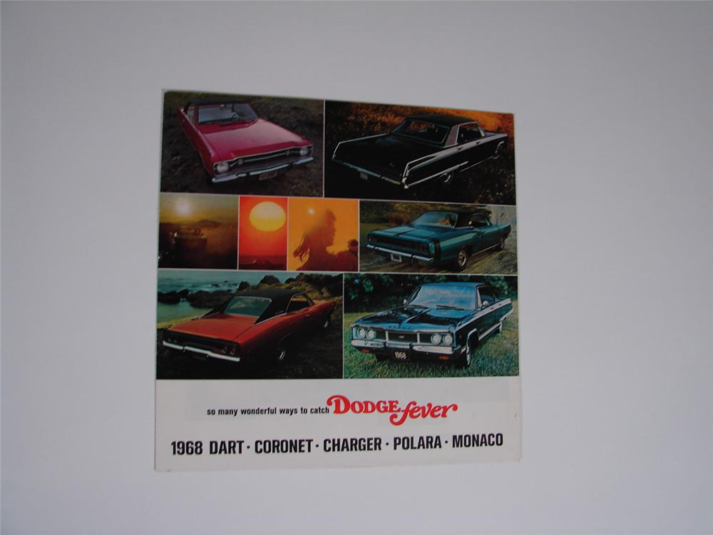 N.O.S. 1968 Dodge Fever 20 page colored sales brochure featuring Dart, Charger, Coronet and others. - Front 3/4 - 66817