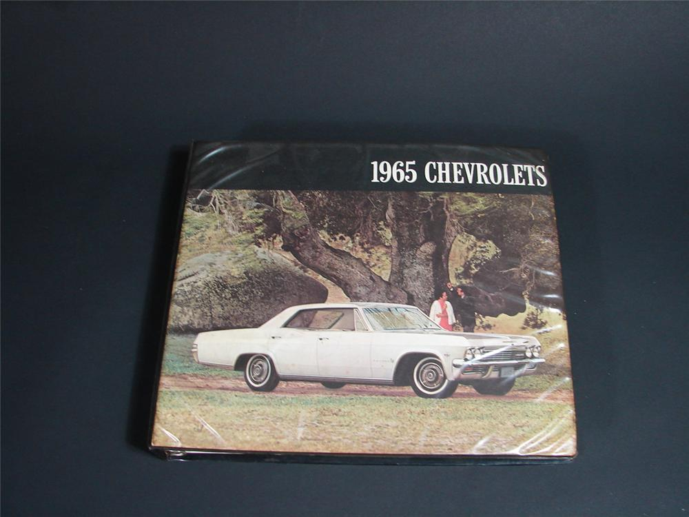 Fantastic 1965 Chevrolet showroom sales dealer book. - Front 3/4 - 66841