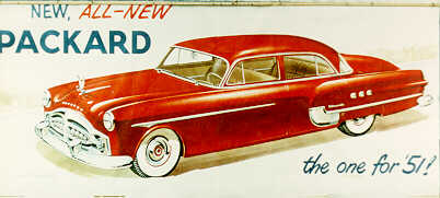 Magnificent 1951 Packard Automobiles billboard sign. - Front 3/4 - 66858