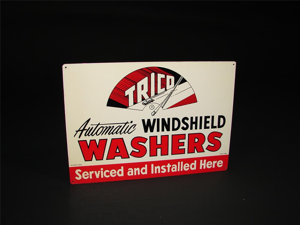 "Trico ""Windshield Washers"" tin garage sign - Front 3/4 - 67060"