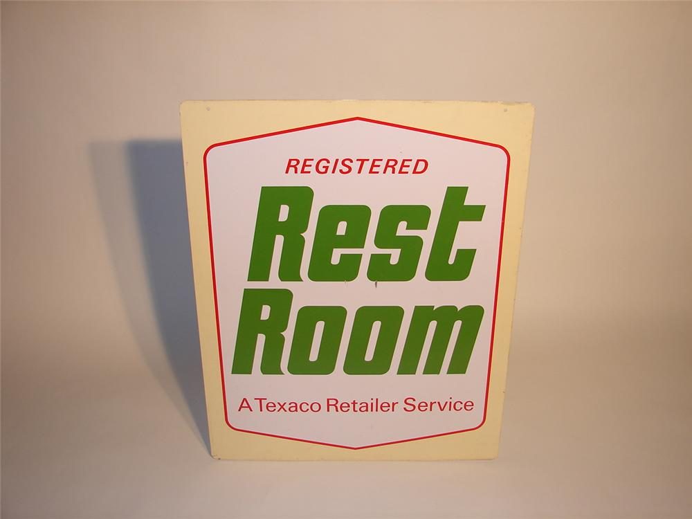 Texaco Registered Rest Room garage sign - Front 3/4 - 67073