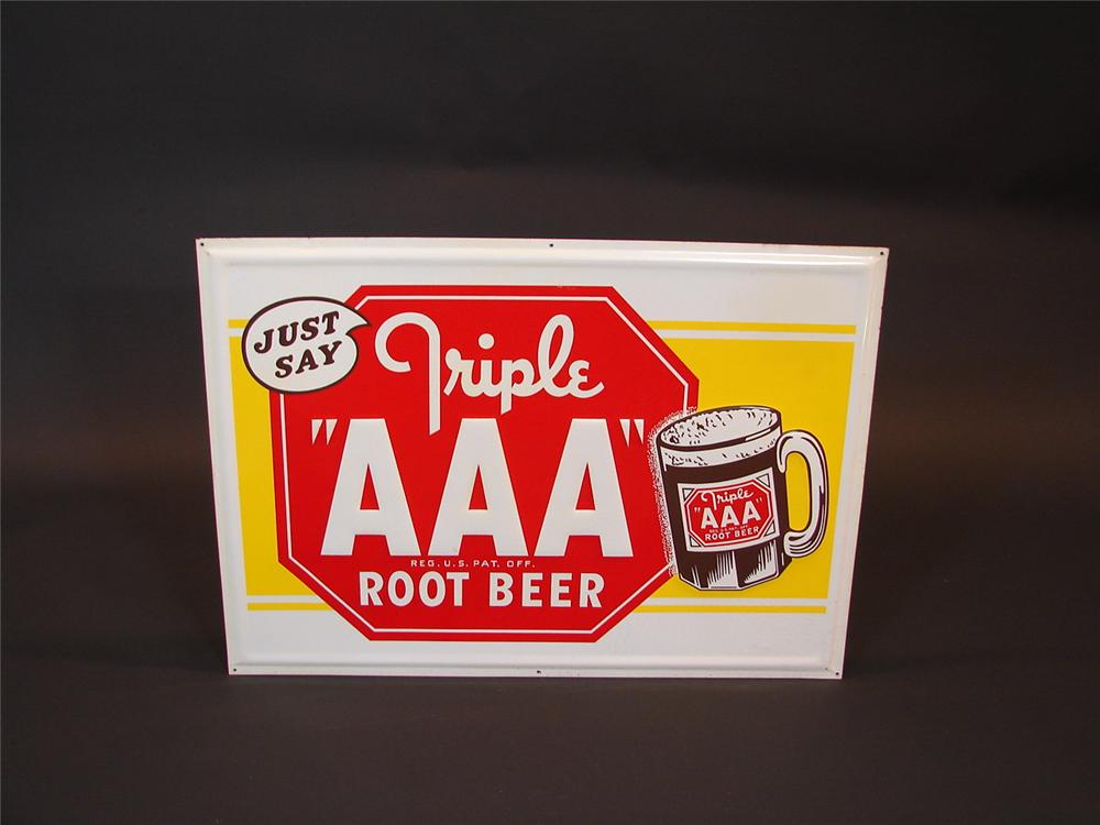 1948 Triple AAA Root Beer sign - Front 3/4 - 67079