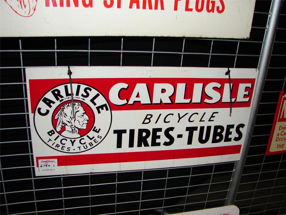 1950s Carlisle Tires-Tubes single-sided tin sign. - Front 3/4 - 67277