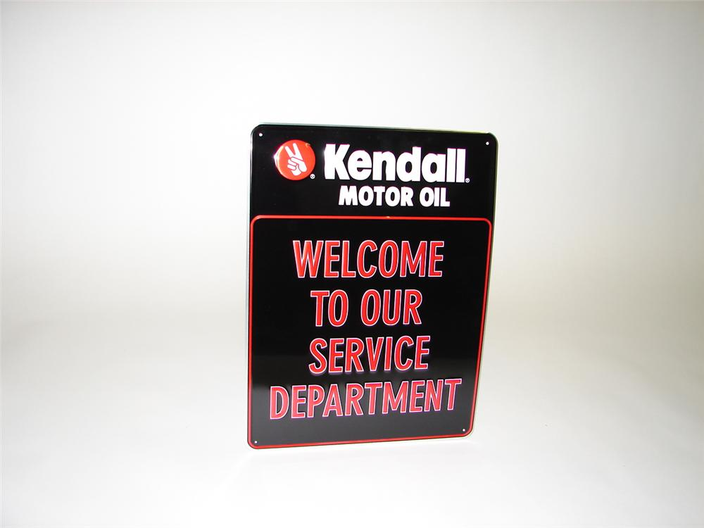 "N.O.S. Kendall Motor Oil ""Welcome to Our Service Department""  tin sign. - Front 3/4 - 68796"