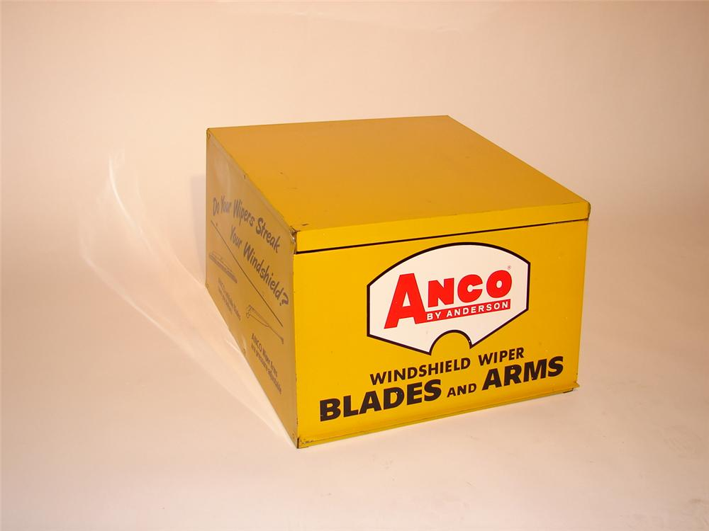 1950s-60s Anco Windshield Wiper Blades station cabinet filled with original N.O.S. blades. - Front 3/4 - 68797