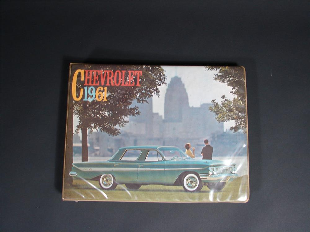 Wonderful 1961 Chevrolet showroom sales dealer book. - Front 3/4 - 68874