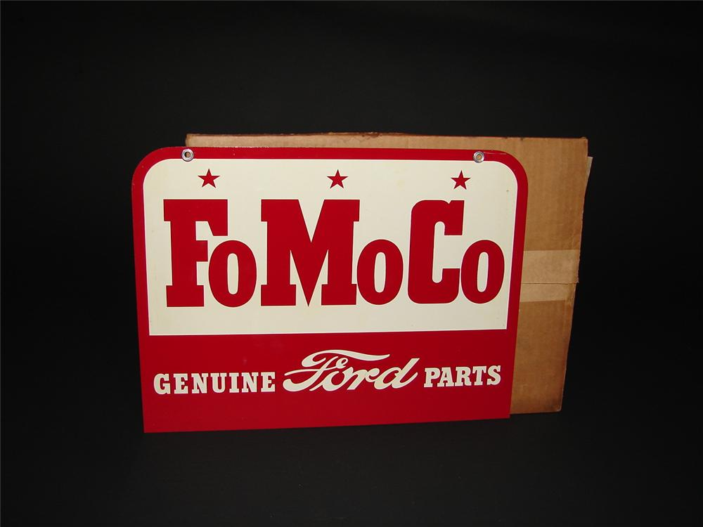 Ford Dealership Las Vegas >> N.O.S. 1957 Ford 'FoMoCo' Genuine Parts double-sided tin deal - 69274