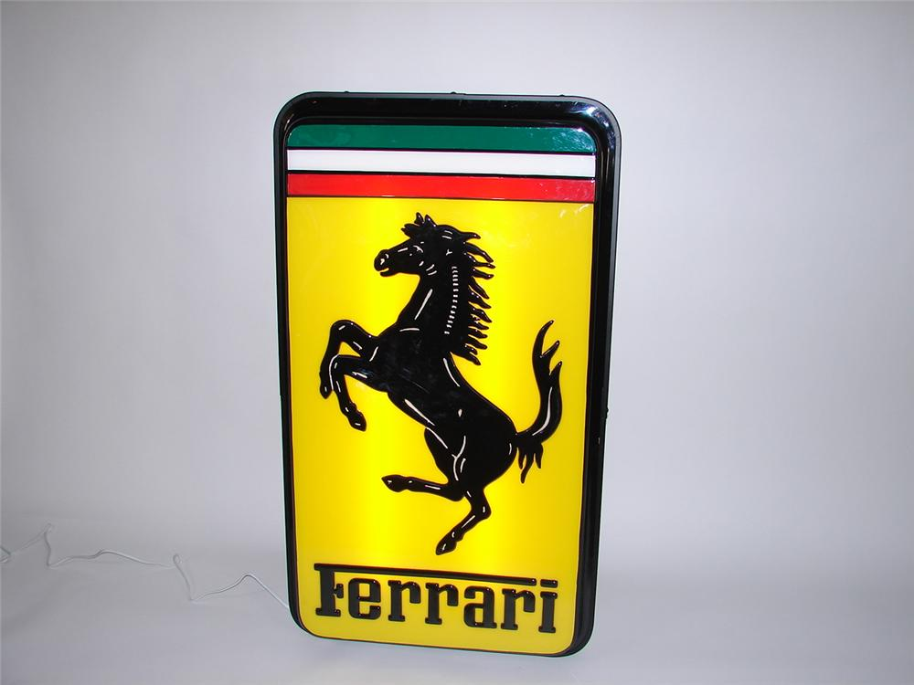1970s Ferrari Automobiles light-up dealership sign. - Front 3/4 - 69493