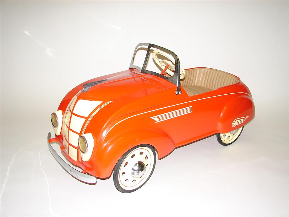 Choice 1936 Chrysler Air Flow Pedal Car.  Hard to find and complimented by a nice restoration. - Front 3/4 - 70113