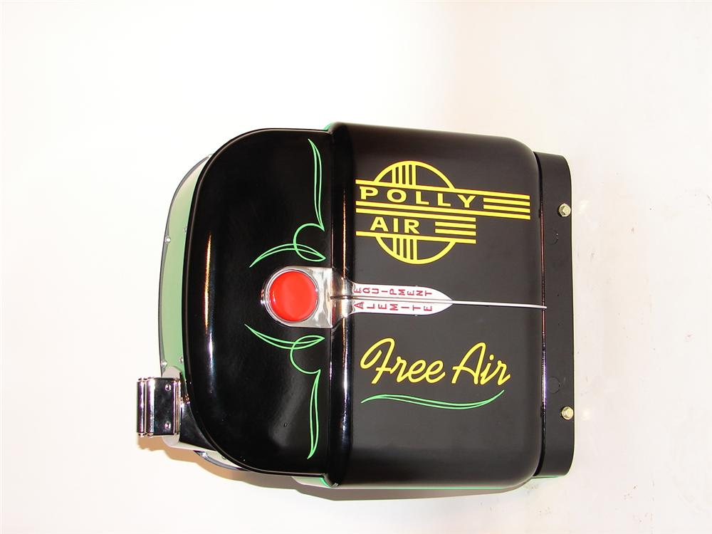 Killer 1930s Alemite Polly Service Station wall mount air dispenser reel with hose. - Front 3/4 - 70319