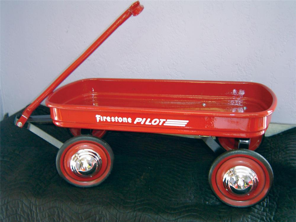 Neat 1950s Firestone Pilot childs wagon restored to original specs. - Front 3/4 - 70374