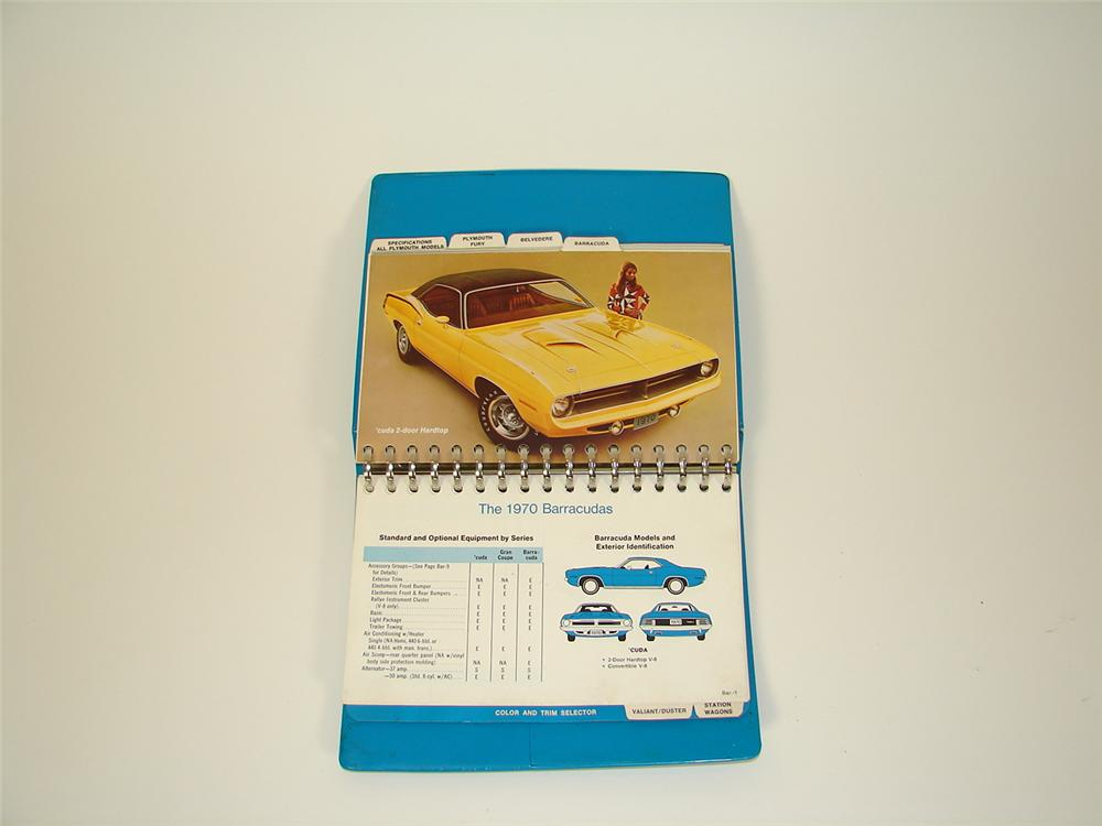 Hard to find 197- Plymouth showroom sales dealer album. - Front 3/4 - 71324