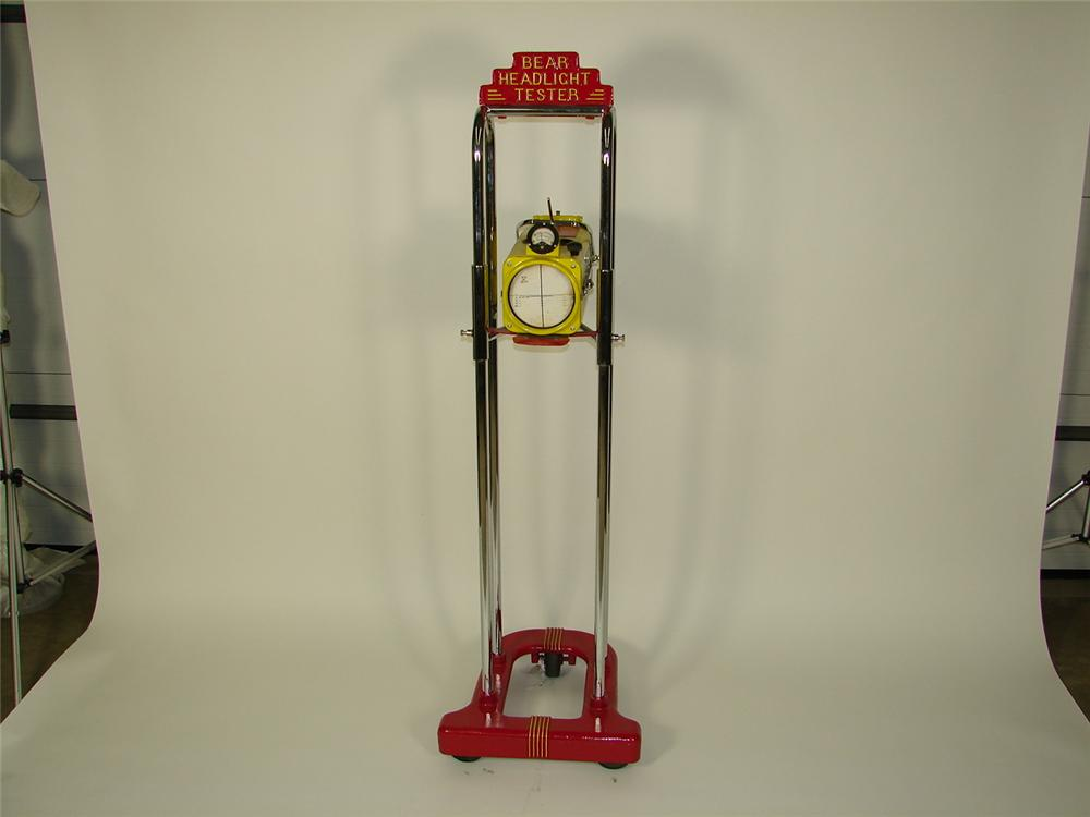 Interesting 1940s-50s Bear service department automotive headlight alignment tester. - Front 3/4 - 71353