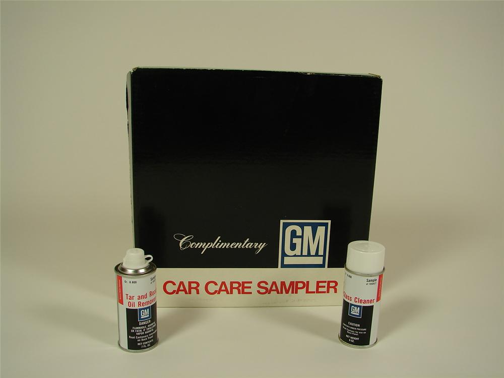 N.O.S. late 60s-early 70s GM Care Care Sampler with eight unused products inside. - Front 3/4 - 71368