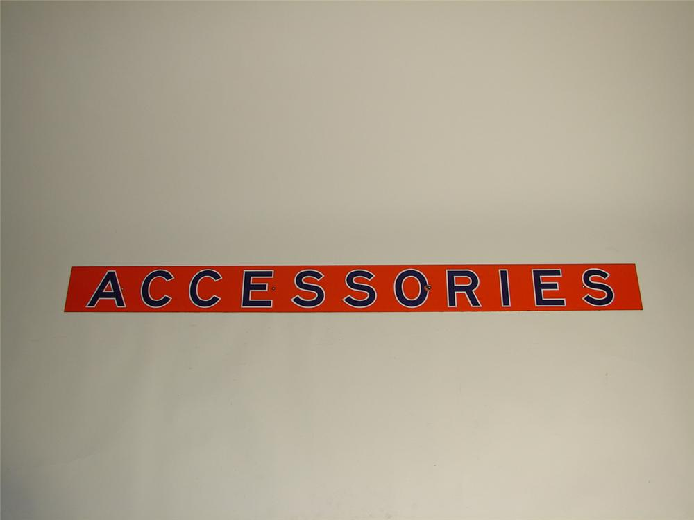 """Union 76 """"Accessories"""" single-sided porcelain service station sign. - Front 3/4 - 71379"""