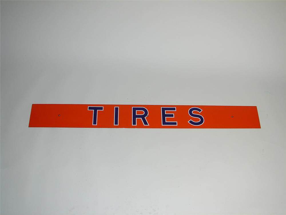 "Union 76 ""Tires"" single-sided porcelain service station sign. - Front 3/4 - 71381"