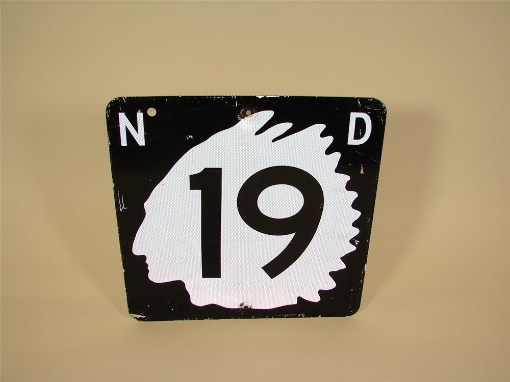 Vintage North Dakota highway road sign. - Front 3/4 - 71445