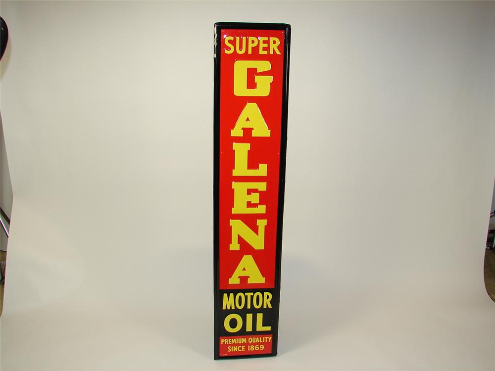 N.O.S. Galena Motor self-framed single-sided tin garage sign. - Front 3/4 - 71523
