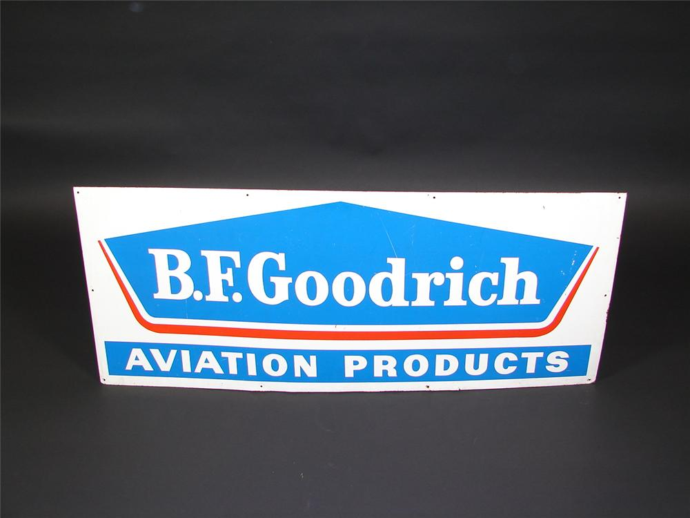 1960s BF Goodrich Aviation Products single-sided tin airport sign. - Front 3/4 - 71524