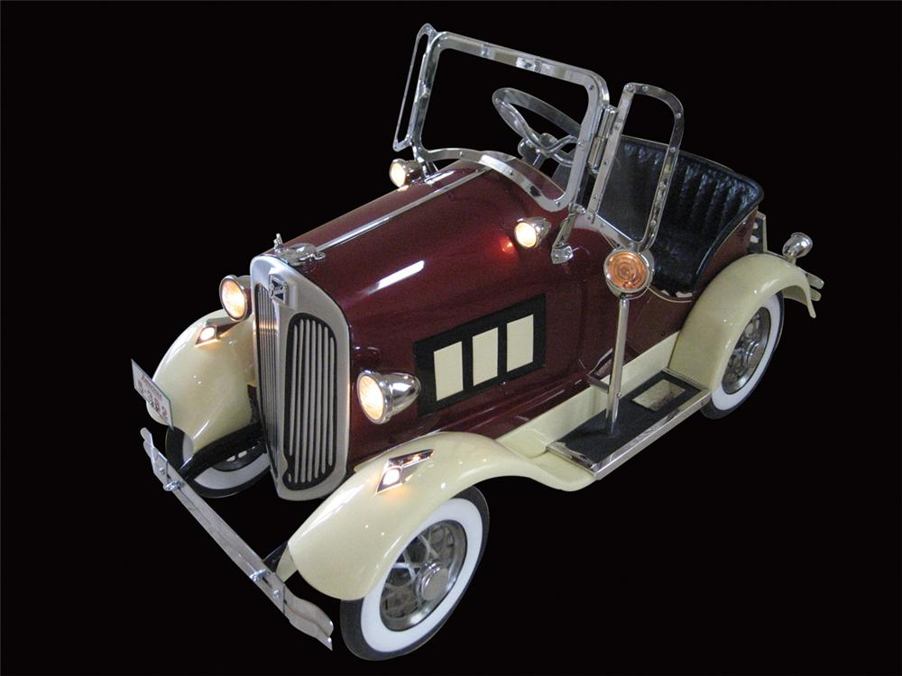 Breathtaking 1933 Buick pedal car by American National. Exquisitely restored with nine working lights, genuine ostrich skin ... - Front 3/4 - 72141