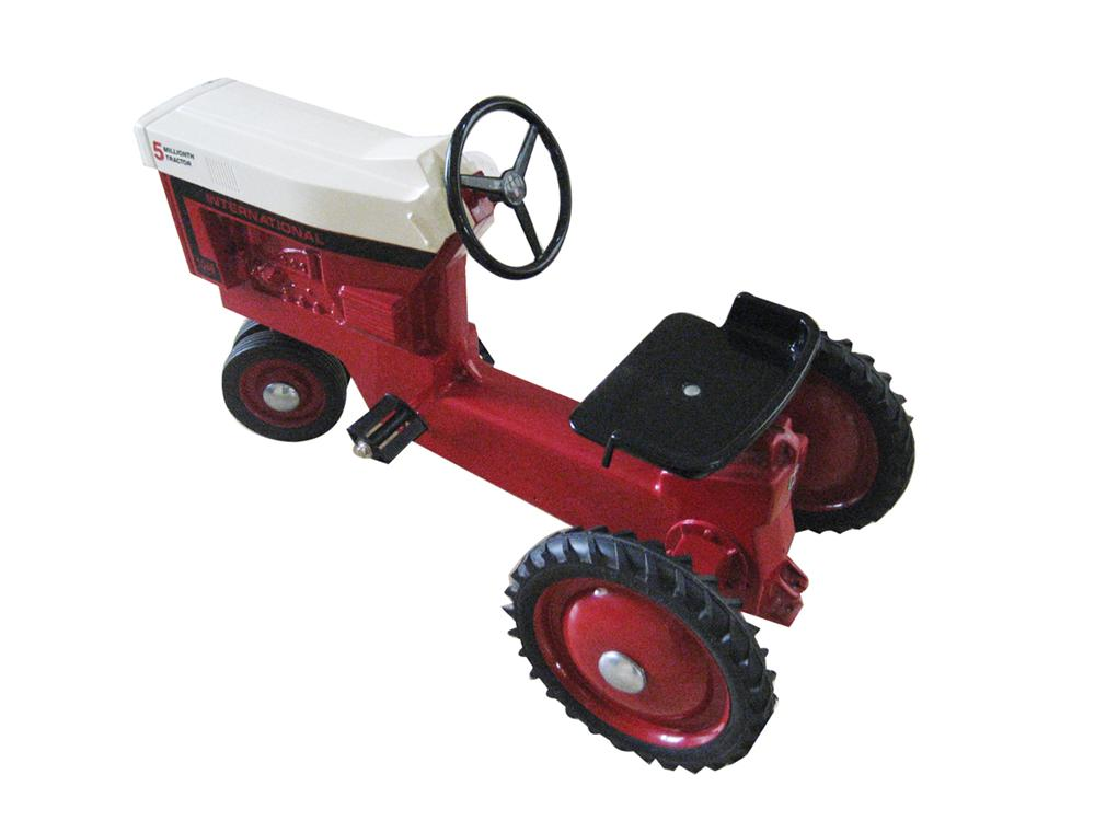 "Late 1960s International Harvestor pedal tractor.  Nicely restored to original condition.  Size 37""x19""x24"" - Front 3/4 - 72145"