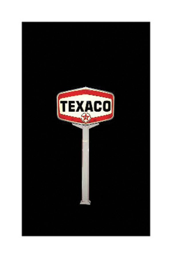 Amazing 1960s Texaco double-sided light-up station sign on original pole. - Front 3/4 - 72185