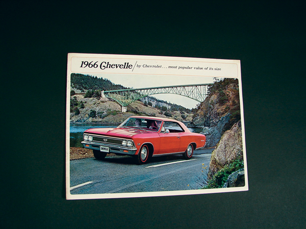 N.O.S. 1966 Chevrolet Chevelle comprehensive 14 page dealer sales brochure. - Front 3/4 - 72259