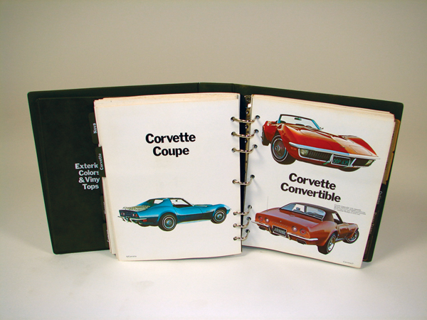 Choice 1972 Chevrolet showroom sales dealer album covering the entire line-up with specs, photos, colors and upholstery samples. - Front 3/4 - 72286