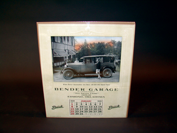 N.O.S. 1928 Buick Automobiles station calendar. - Front 3/4 - 72316