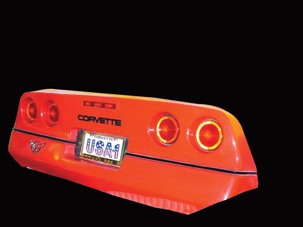 Authentic rear end of a 1984 Corvette wall art. - Front 3/4 - 72388