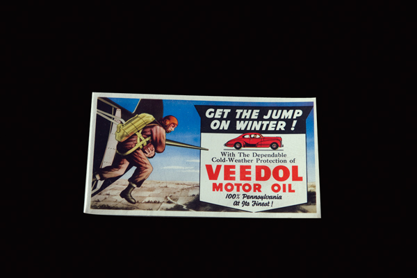 1940s Veedol Motor Oiol promotional in blotter with World War II motif. - Front 3/4 - 72444