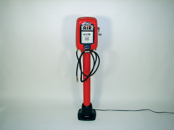 "Fully restored 1950s Eco Air Meter service station ""Tire Flator"" air dispenser. - Front 3/4 - 72516"
