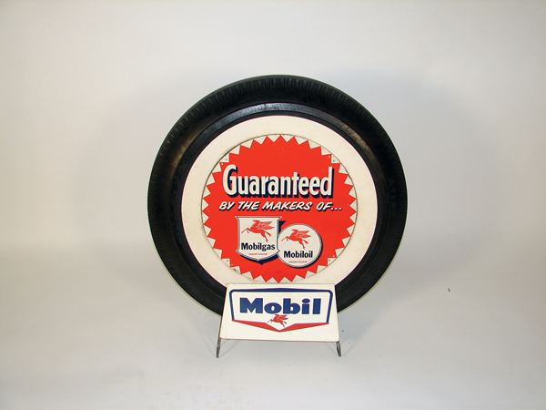 Wonderful 1950s Mobil service station island tire display. - Front 3/4 - 72528