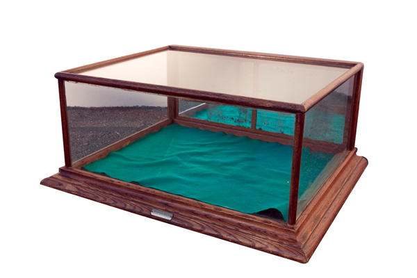 Circa late teens general store counter-top display case.  Manufactured by the St. Paul Showcase Mfg. - Front 3/4 - 72543