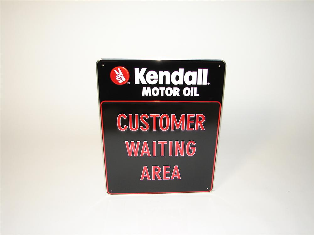 """N.O.S. Kendall Motor Oil """"Customer Waiting Area"""" service department tin sign. - Front 3/4 - 73466"""