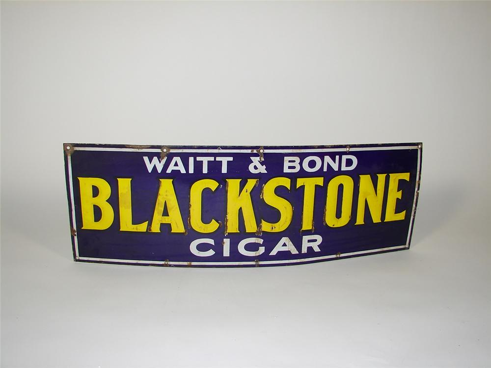 1930s Black Stone Cigars single-sided porcelain general store sign. - Front 3/4 - 73475