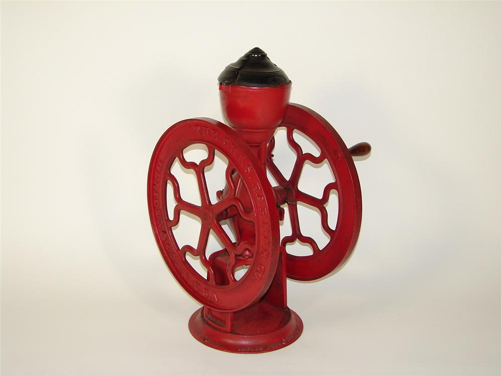 Turn of the century general store coffee grinder. - Front 3/4 - 73480