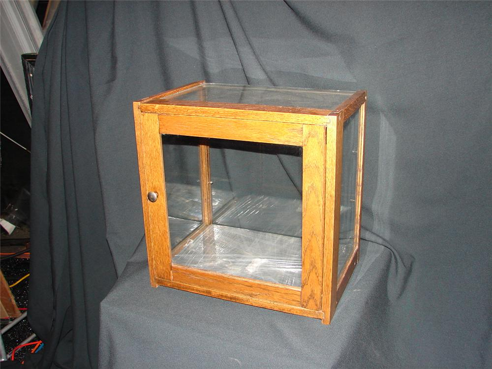 1920s general store counter-top wood display case. - Front 3/4 - 73494
