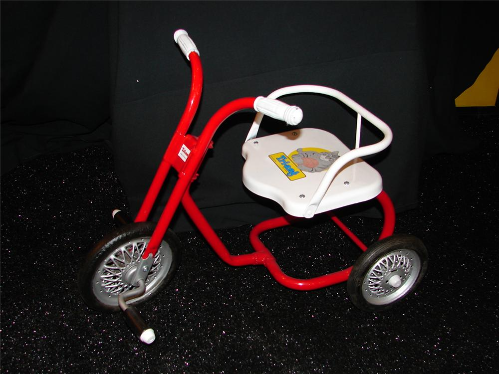Restored Childs Triang pedal tricycle. - Front 3/4 - 73515