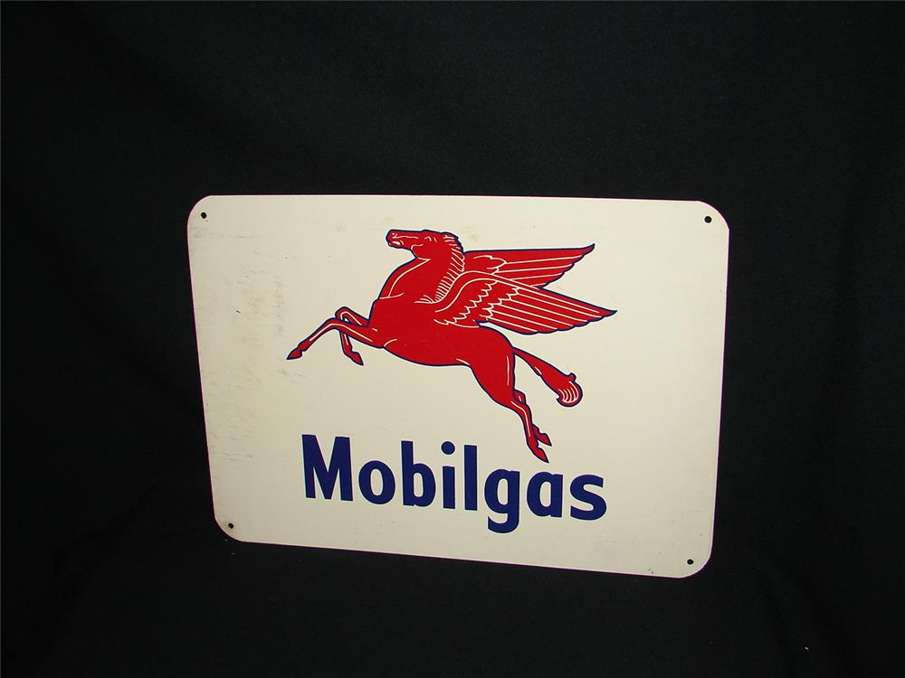 N.O.S. 1940s Mobilgas tin painted garage sign.  Condition: 9.25+ - Front 3/4 - 73885