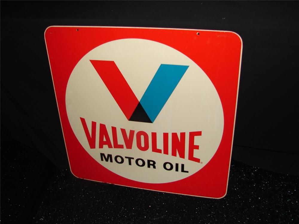 N.O.S. Valvoline Motor Oil double-sided tin garage sign - Front 3/4 - 73903